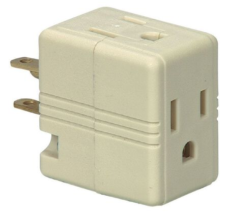Ace Polarized Outlet Adapter Ivory 15 amps 125 volts 1 pk