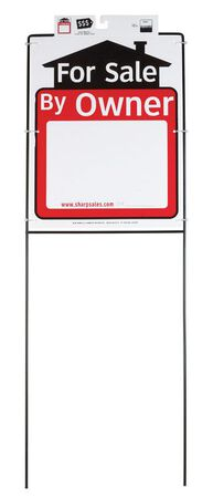 Hy-Ko English 42 in. H x 15 in. W Plastic Sign For Sale by Owner