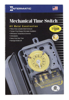 Intermatic Indoor and Outdoor Mechanical Time Switch 40 amps 208-277 volts Gray