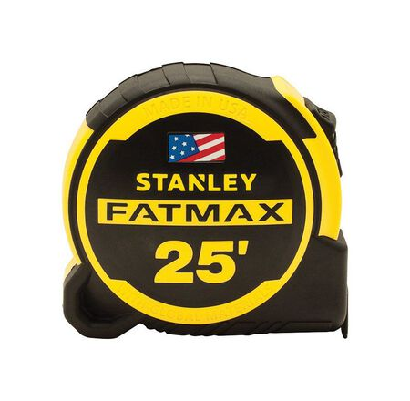 Stanley FATMAX Compact Tape Measure 1-1/4 in. W x 25 ft. L Yellow/Black