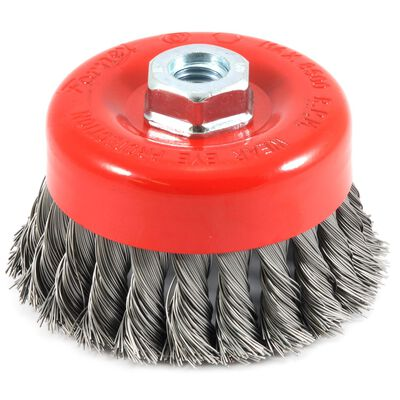 Forney 4 in. Dia. 0.625 Cup Brush