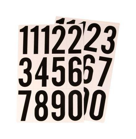 Hy-Ko Self-Adhesive Black Reflective Vinyl Number Set 0-9 3 in.
