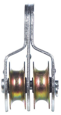 Campbell Chain Double Sheave Rigid Eye Pulley 1-1/2 in. Rigid 400 lb. Steel