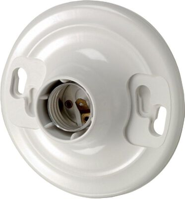 Leviton 660 watts 600 volts Keyless Socket White