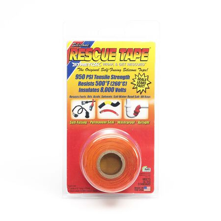 Rescue Tape 1 in. W x 12 ft. L Silicone Tape Orange