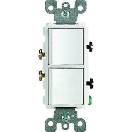 Leviton 1 15 amps White Decorator Combination Combination Switch 1