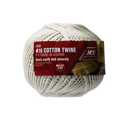 Ace 1/2 in. Dia. x 510 ft. L Wrapping Cotton Twine White