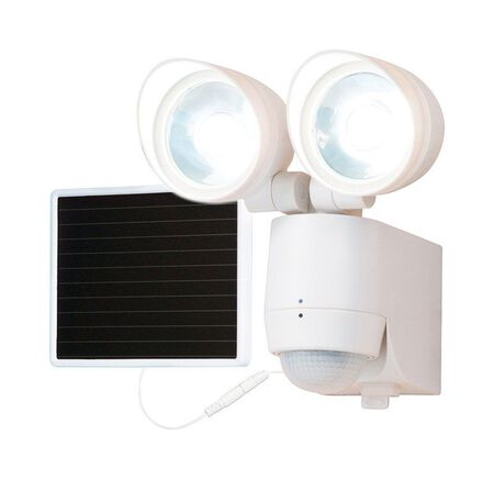 All-Pro Solar Powered Light Plastic White Motion-Sensing LED