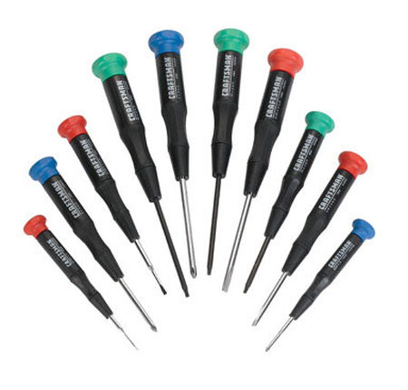 Craftsman 10 Piece Assorted Screwdriver Set Black 1 pc.
