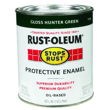 Rust-Oleum Stops Rust Gloss Hunter Green Oil-Based Alkyd Protective Enamel Indoor and Outdoor