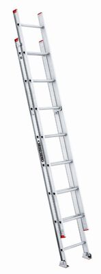 16 ft Louisville L-2321-16 Aluminum Extension Ladder, Type III, 200 lb Load Capacity