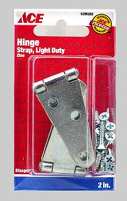Ace Steel Light Duty Strap Hinge 2 in. L Zinc 2 pk
