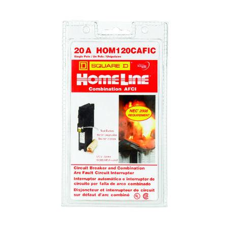 Square D HomeLine Arc Fault/Single Pole 20 amps Circuit Breaker