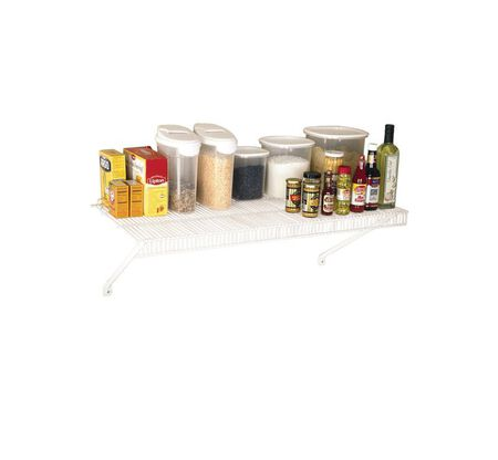 Rubbermaid 36 in. L x 36 in. H x 16 in. W Tight Mesh Shelf Kit White
