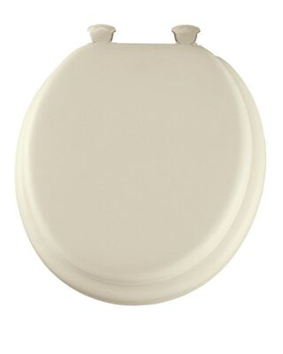Mayfair Vinyl Cushioned Toilet Seat Round Bone