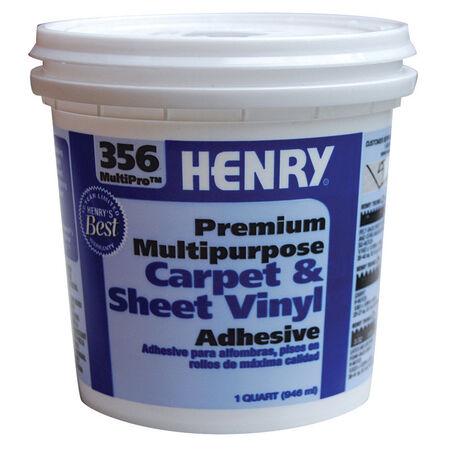 Henry 356 MultiPro Premium Multipurpose High Strength Paste Carpet & Sheet Vinyl Adhesive 1 qt.