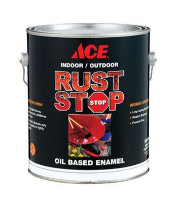 Ace Interior/Exterior Rust Stop Oil-based Enamel Paint Satin White Satin 1 gal.