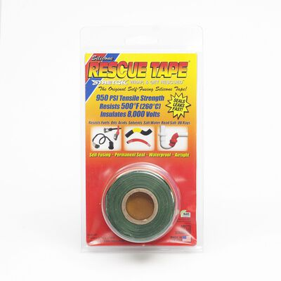 Rescue Tape 1 in. W x 12 ft. L Silicone Tape Green