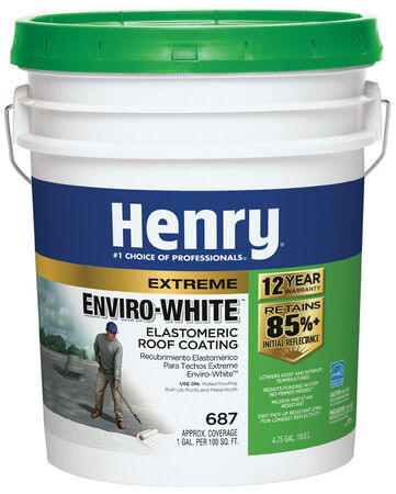 Henry Water Based Roof Coating 4-3/4 gal. White