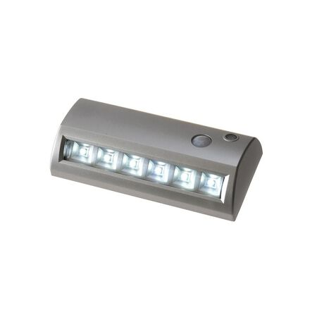 Fulcrum LIGHT IT Battery Operated LED Motion Sensor Pathway Light Silver
