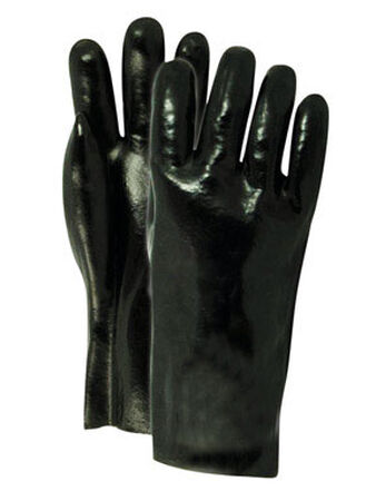 Handmaster Black Universal One Size Fits All Vinyl Work Gloves