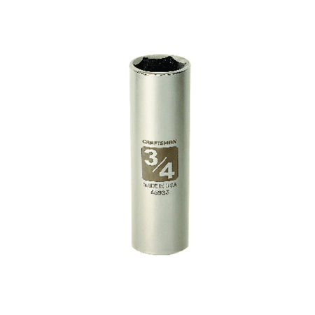 Craftsman 3/4 in. x 1/2 in. drive SAE 6 Point Deep Socket 1 pc.
