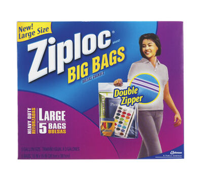 Ziploc Big Bags Storage Bag 3 gal. Clear 15 in. D