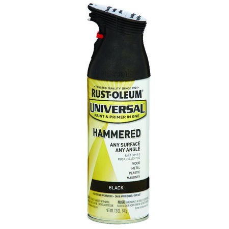 Rust-Oleum Universal Paint & Primer in One Black Hammered Hammered Spray 12 oz.