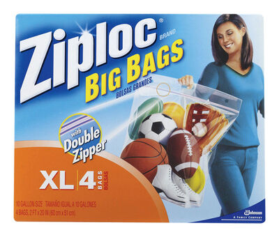 Ziploc Big Bags Storage Bag 10 gal. Clear 24 in. D