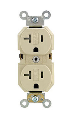 Leviton Electrical Receptacle 20 amps 5-20R 125 volts Ivory