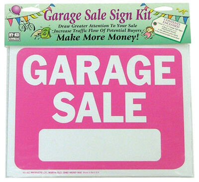 Hy-Ko English 9 in. H x 12 in. W Plastic Sign Kit Garage Sale