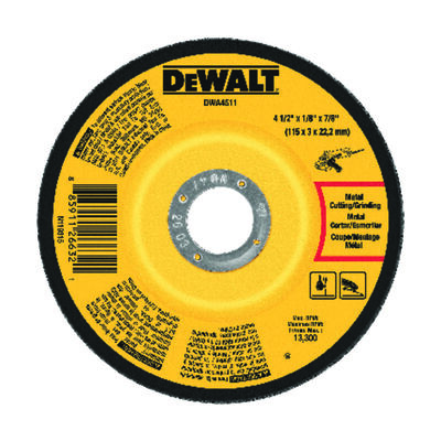 "4-1/2"" x 1/8"" x 7/8"" Metal Grinding Wheel"