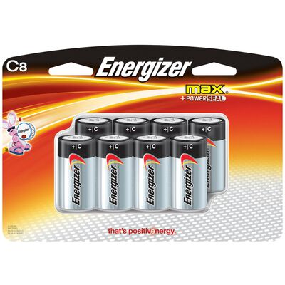 Energizer Max C Alkaline Batteries 1.5 volts 8 pk