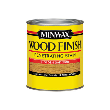 Minwax Wood Finish Semi-Transparent Golden Oak Oil-Based Wood Stain 1 qt.