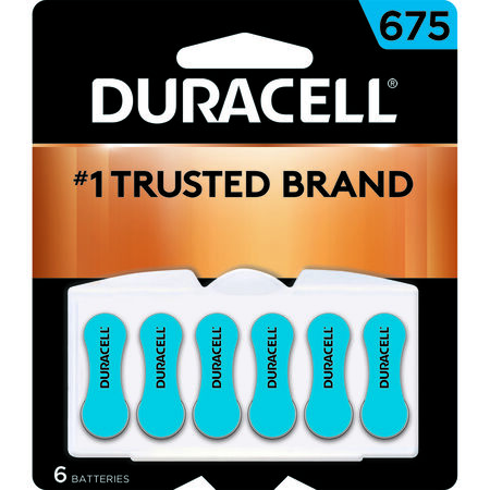 Duracell 675 Zinc-Air Hearing Aid Battery 1.4 volts 6 pk