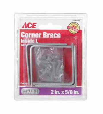 Ace Inside L Corner Brace 2 in. x 5/8 in. Galvanized Steel