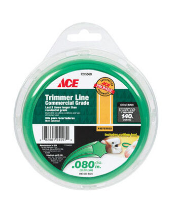 Ace Commercial Trimmer Line 0.080 in. Dia. x 140 ft. L 7 refill