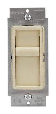 Leviton SureSlide 150 watts Slide Dimmer Switch Ivory