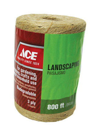 Ace 800 ft. L Braided Jute Twine Natural