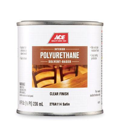Ace Satin Clear Solvent-Based Polyurethane 1/2 pt.