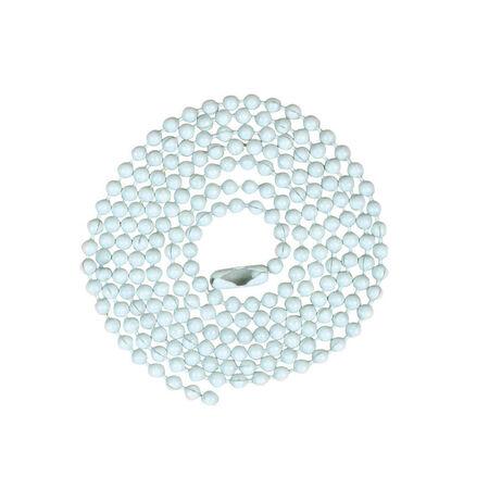 Jandorf Beaded Chain White 3 ft. L 1 pk