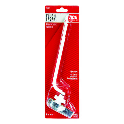 Ace Flush Lever 9 in. L Chrome