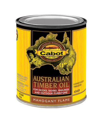 Cabot Transparent Oil-Based Australian Timber Oil Mahogany Flame 1 qt.