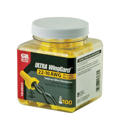 GB Ultra WingGard Wire Connectors Yellow 100 pk