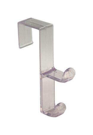 InterDesign Over the Door Double Hook 5-1/2 in. L Plastic 1 pk