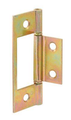 Prime-Line 3 in. H x 3 in. L Brass plated Steel 2 Door Hinge
