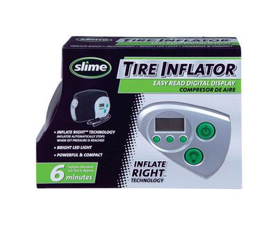 Slime 12 volts Inflator with Gauge 2 ft.