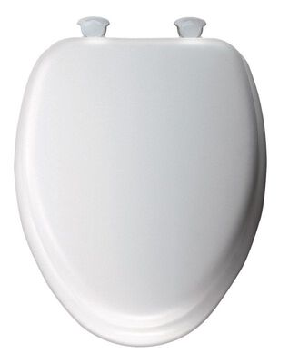 Mayfair Vinyl Cushioned Toilet Seat Elongated White