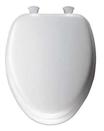 Mayfair Vinyl Cushioned Toilet Seat Elongated White