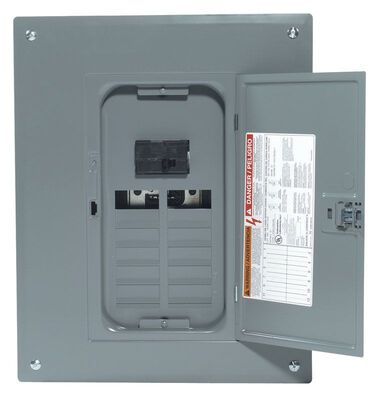 Square D Homeline 100 amps 12 space 24 circuits 120/240 volts Plug-In Single Pole Meter Breaker